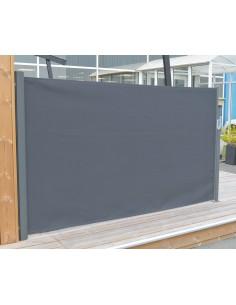 Brise vent extensible 3 mètres - Coloris Gris Anthracite - Proloisirs