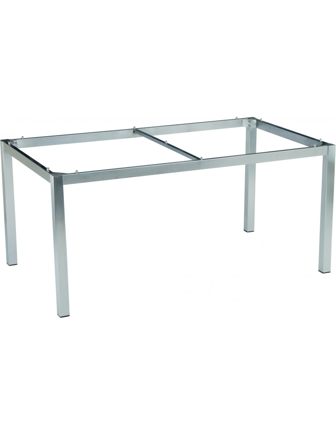 Table de jardin en inox stern dimensions 160x90x72cm for Table structure