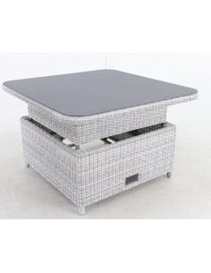Table de salon LODRINO - Relevable tressée carrée - MWH