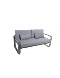 Canapé 2 places Widero - Aluminium anthracite - MWH
