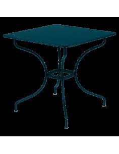 Table de jardin Opéra Carronde Bleu Acapulco 82 x 82 cm - Fermob