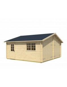 Double garage Falkland 33 m² bois massif  44 mm - 2 types au choix
