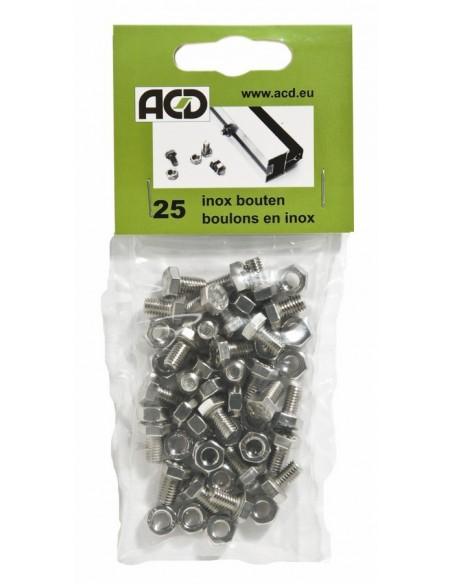 Boulons et écrous en inox ACD pour tous types de serres en verre