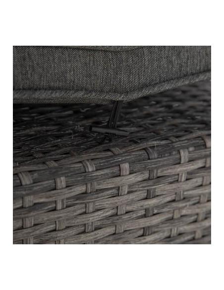 Pouf Mayari Terre d'Ombre - Aluminium et résine tressée - Hesperide