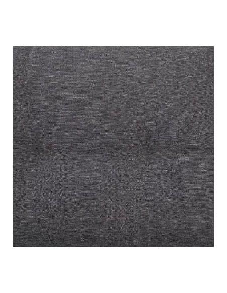 Coloris du coussin Carbone pour le Pouf Mayari Terre d'Ombre - Aluminium et résine tressée - Hesperide