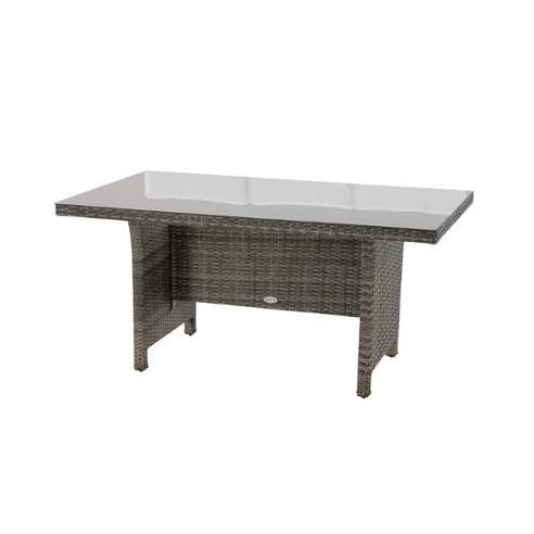 Table de jardin Mayari Hespéride - 8 places - Aluminium et résine tressée