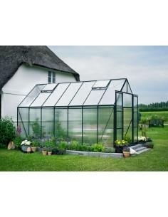 Serre de jardin Magnum 9,9 m² laquée verte - Polycarbonate de 6 mm