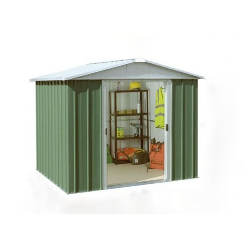 Abri de jardin Vert sapin métal 5.25 m² au choix - Trigano