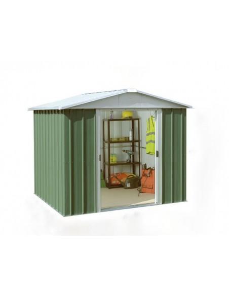 Abri de jardin métal 5.25 m² Vert sapin au choix - Trigano Jardin