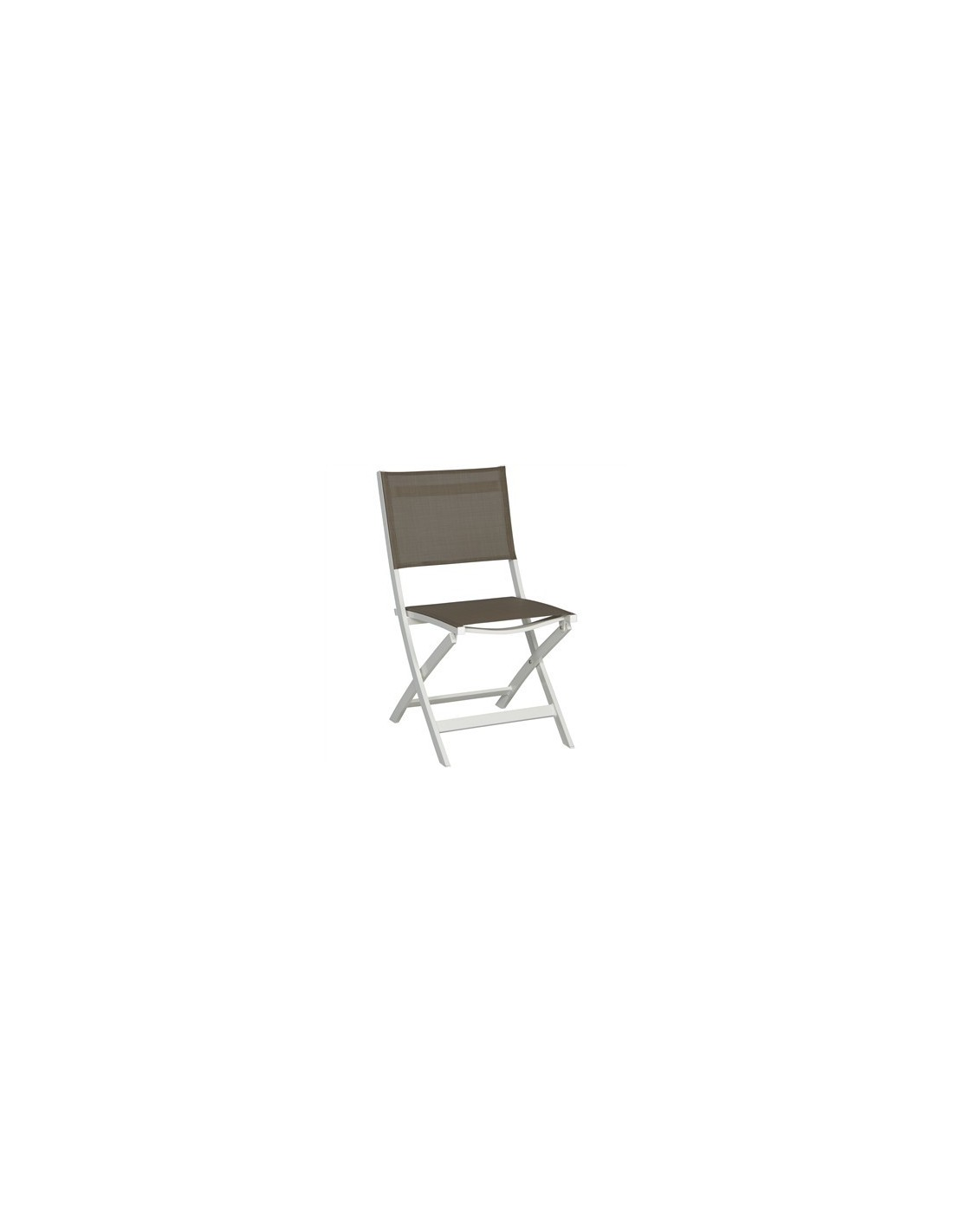 Chaise pliante stern joe structure aluminium blanc for Chaise aluminium textilene