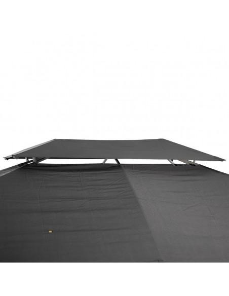 Tonnelle Maldives  3 x 4 m Ardoise - Acier epoxy - Hespéride