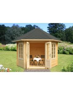 Tonnelle de jardin Hanna 7.6 m² avec plancher - Bois massif 34 mm