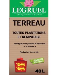 Terreau toutes plantations intérieur et extérieur LEGRUEL 40L