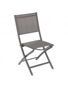 Chaise pliante Essentia - Aluminium Tonka assise Wengé