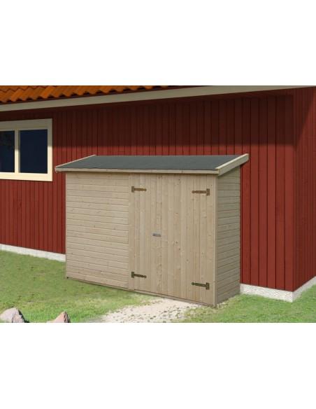 Abri bois Leif 2.2 m² avec plancher en bois massif 16 mm