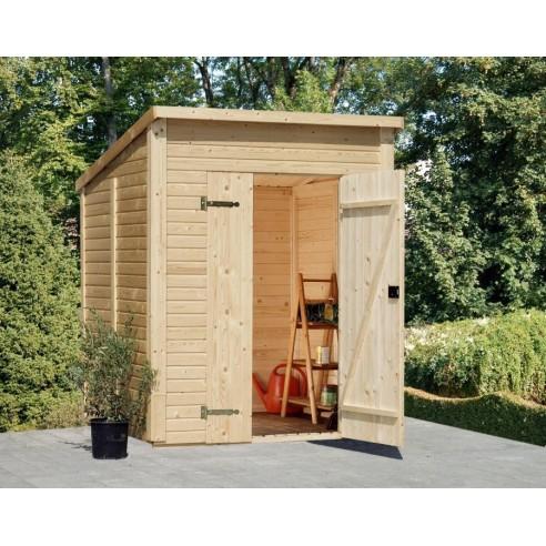 Abri bois Leif 3.1 m² avec plancher en bois massif 16 mm