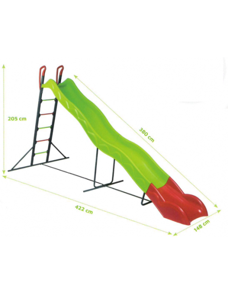 Toboggan EDGAR 3.80 m de glisse pour enfants +3 ans