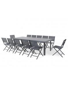 Table de jardin OTTAWA - Extensible 256/320 x 100 cm - MWH
