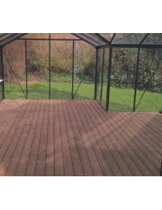 Plancher bois Thermowood pour serres et orangeries ACD