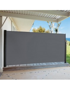 Paravent d'extérieur Capao graphite - L.3 x H.1.60 m - Hespéride