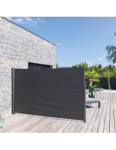 Paravent d'extérieur Antao graphite - L.3 x H.1.80 m - Hespéride