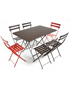 Table pliante métal rectangle 117x77cm Bistro collection Fermob