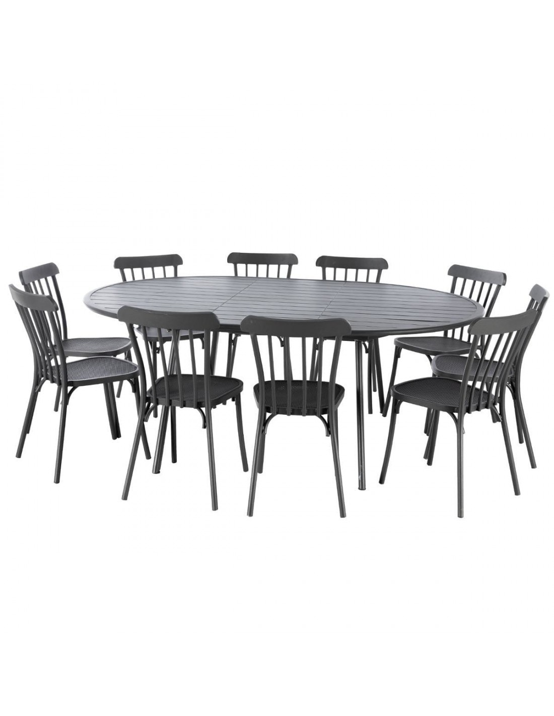 Table De Jardin Ellipsa Extensible En Aluminium Graphite