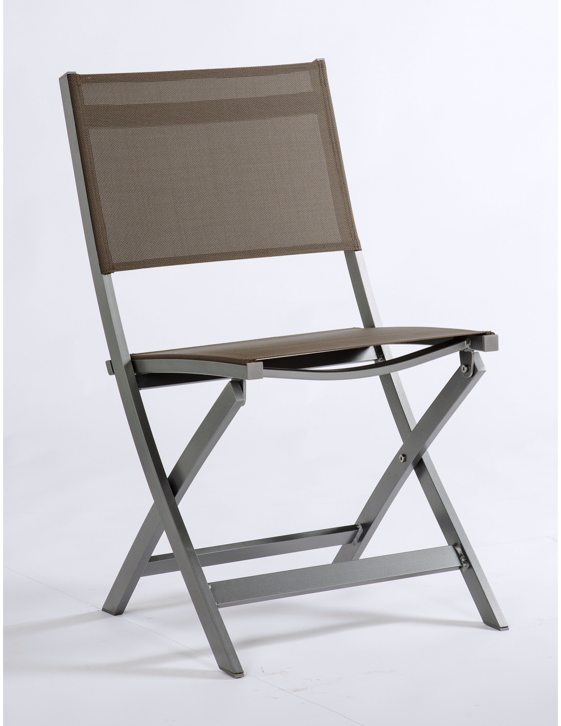 Chaise pliante stern joe structure aluminium graphite for Chaise aluminium textilene
