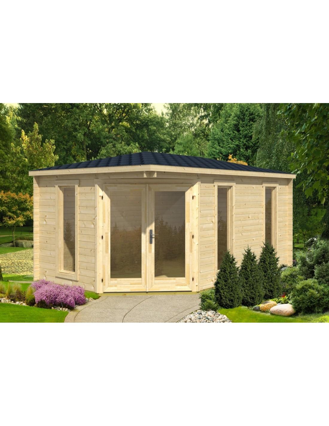 Abri de jardin edinburgh 12 5 m avec plancher bois massif 40 mm - Abri de jardin en bois avec plancher ...