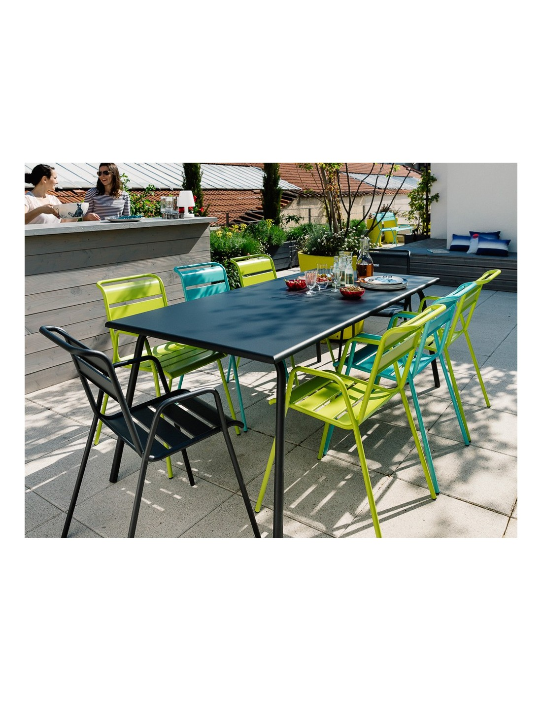 Table de jardin monceau 194x94 cm fermob for Fermob table de jardin