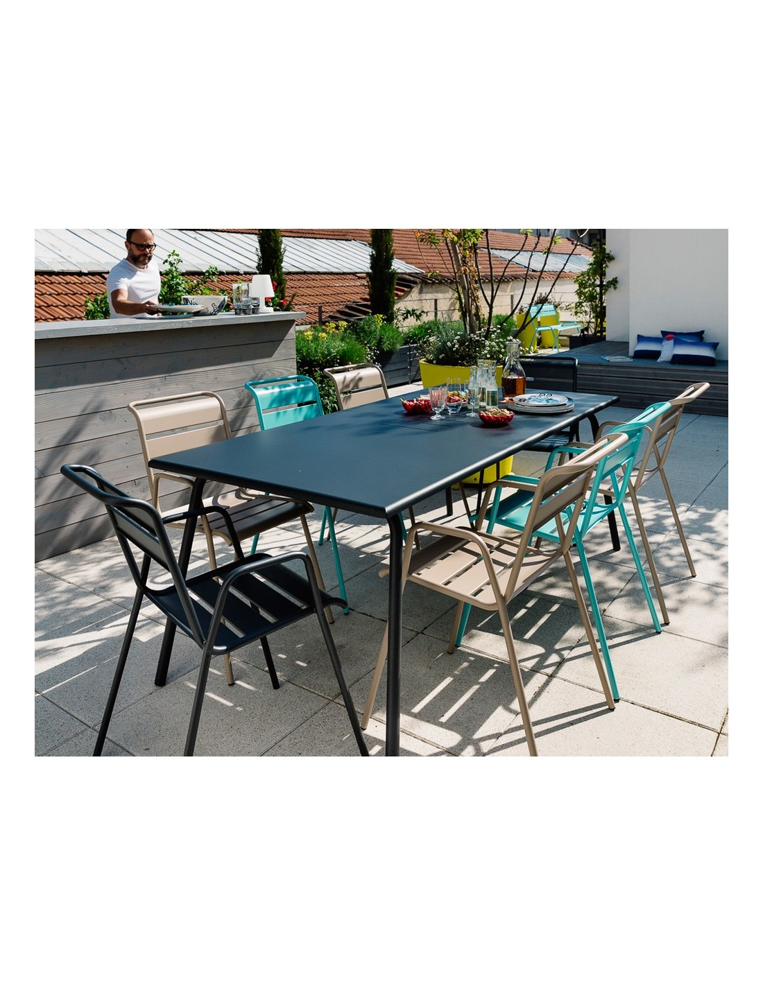table de jardin monceau xl 194 x 94 cm 8 personnes fermob. Black Bedroom Furniture Sets. Home Design Ideas