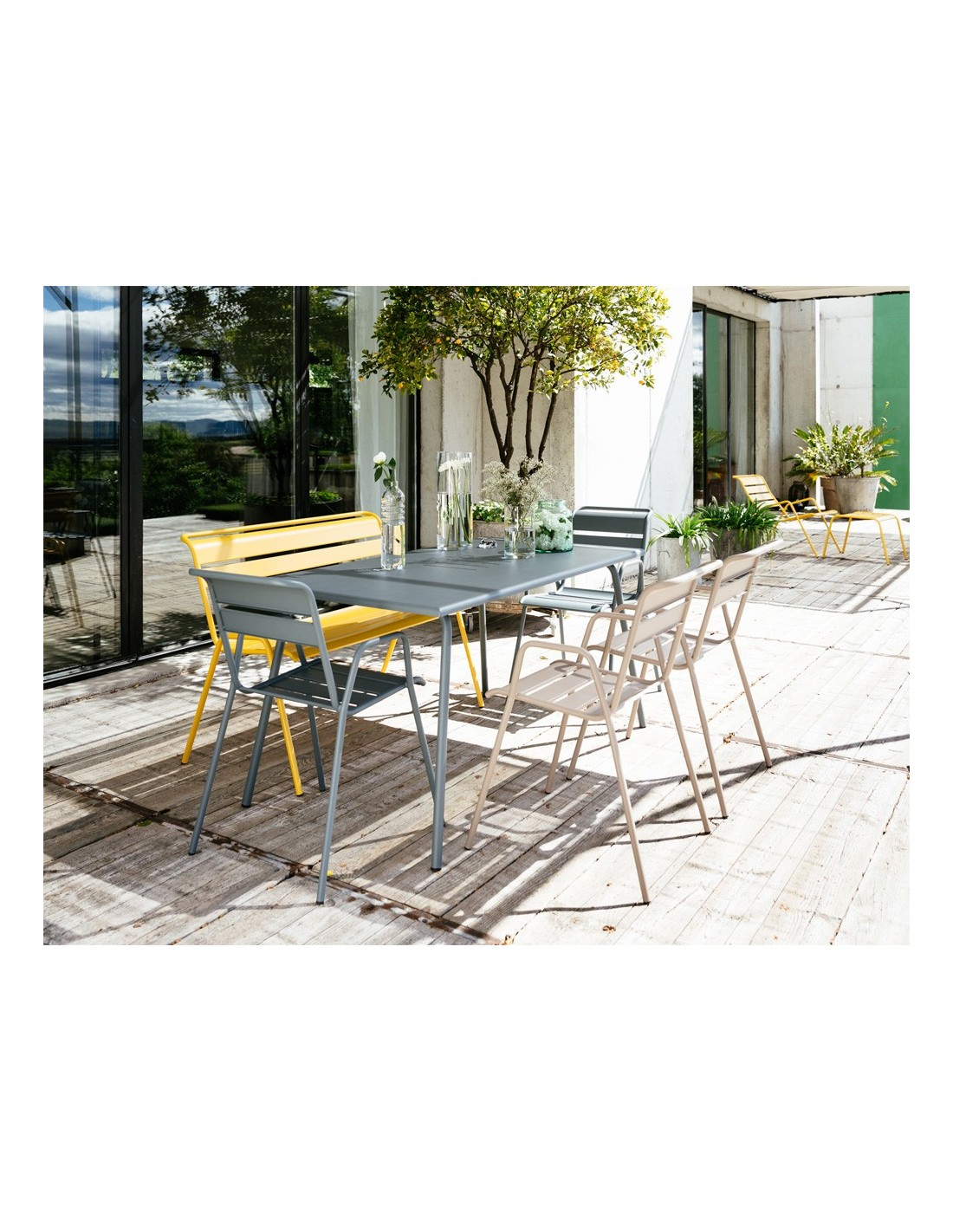 Table de jardin monceau 194x94 cm fermob for Table jardin 8 personnes