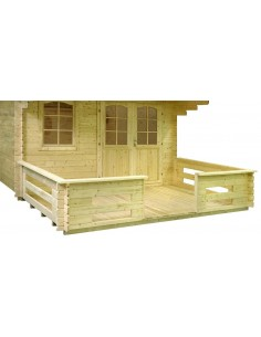 Terrasse pour abri Lasita Maja - 28 à 44 mm