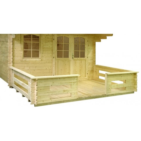 Terrasse pour abri Lasita Maja 28 à 40 mm