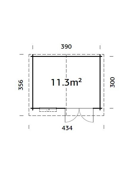 Abri de jardin Pila 11.7 m² en bois massif 28 mm