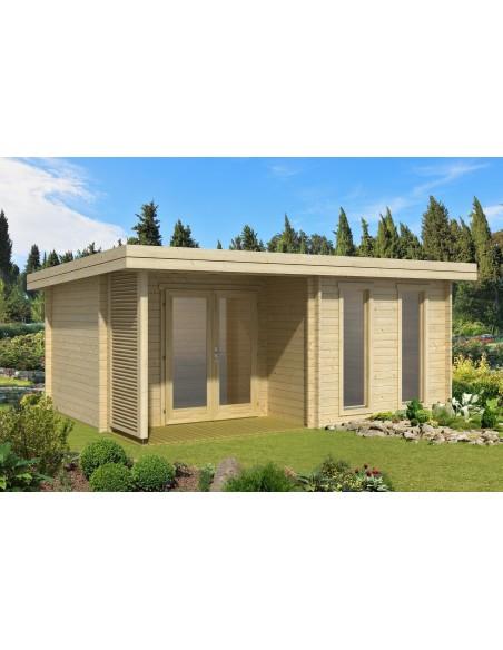 Abri de jardin Orkney 16.4 m² avec plancher bois massif 44 mm