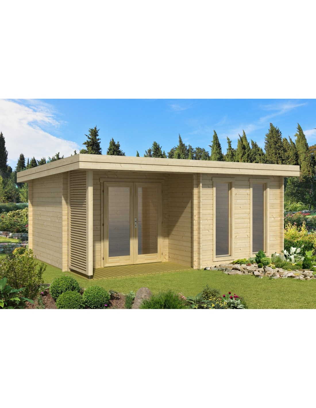 Abri de jardin orkney 16 4 m avec plancher bois massif - Abris de jardin avec plancher ...