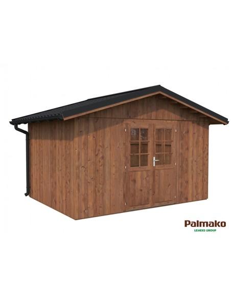 Abri de jardin Tiago 11.3 m² en bois traité autoclave 89 mm