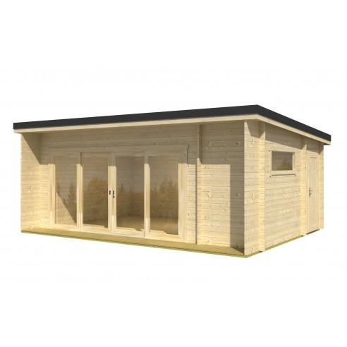 Abri de jardin java 23 7 m avec plancher bois massif 44 mm - Abri de jardin avec plancher ...
