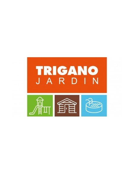 Abri de jardin métal 9 m² au choix vert sapin - Trigano Jardin