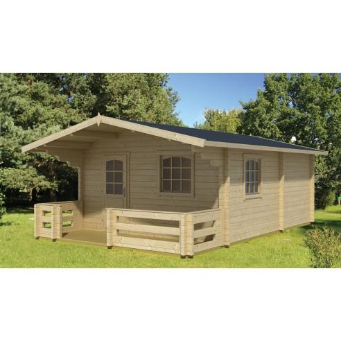 Abri de jardin elba 28 6 m avec plancher bois massif 44 mm - Abri de jardin en bois avec plancher ...