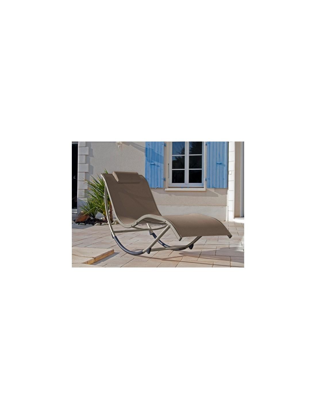 lit de d tente pour jardin banana en aluminium proloisirs. Black Bedroom Furniture Sets. Home Design Ideas