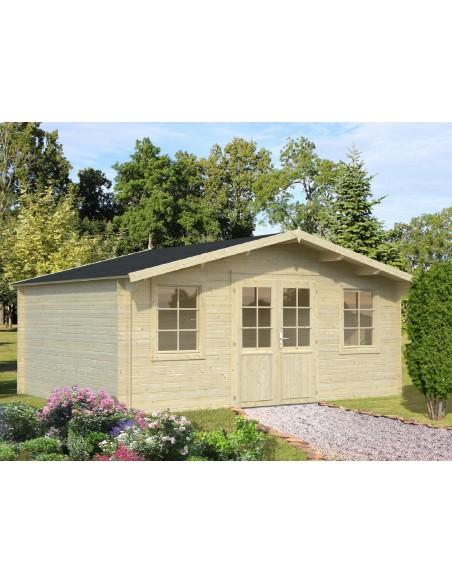 Abri de jardin Klara 17.4 m² en bois massif 28 mm