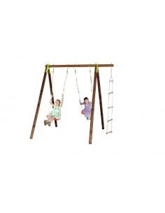 Portique XYLO bois et métal 2.3 m - Enfants 5/12 ans