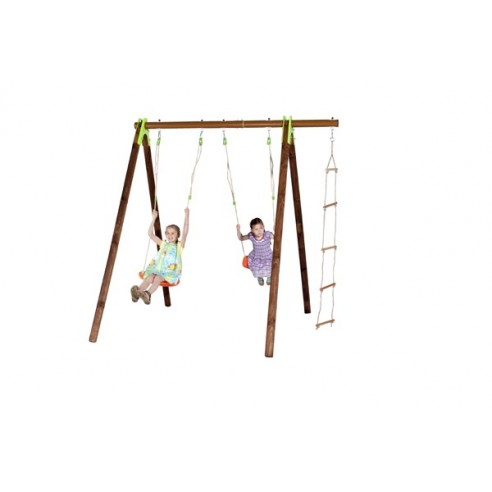 Portique XYLO bois et métal 2.3 m - Enfants 3/12 ans