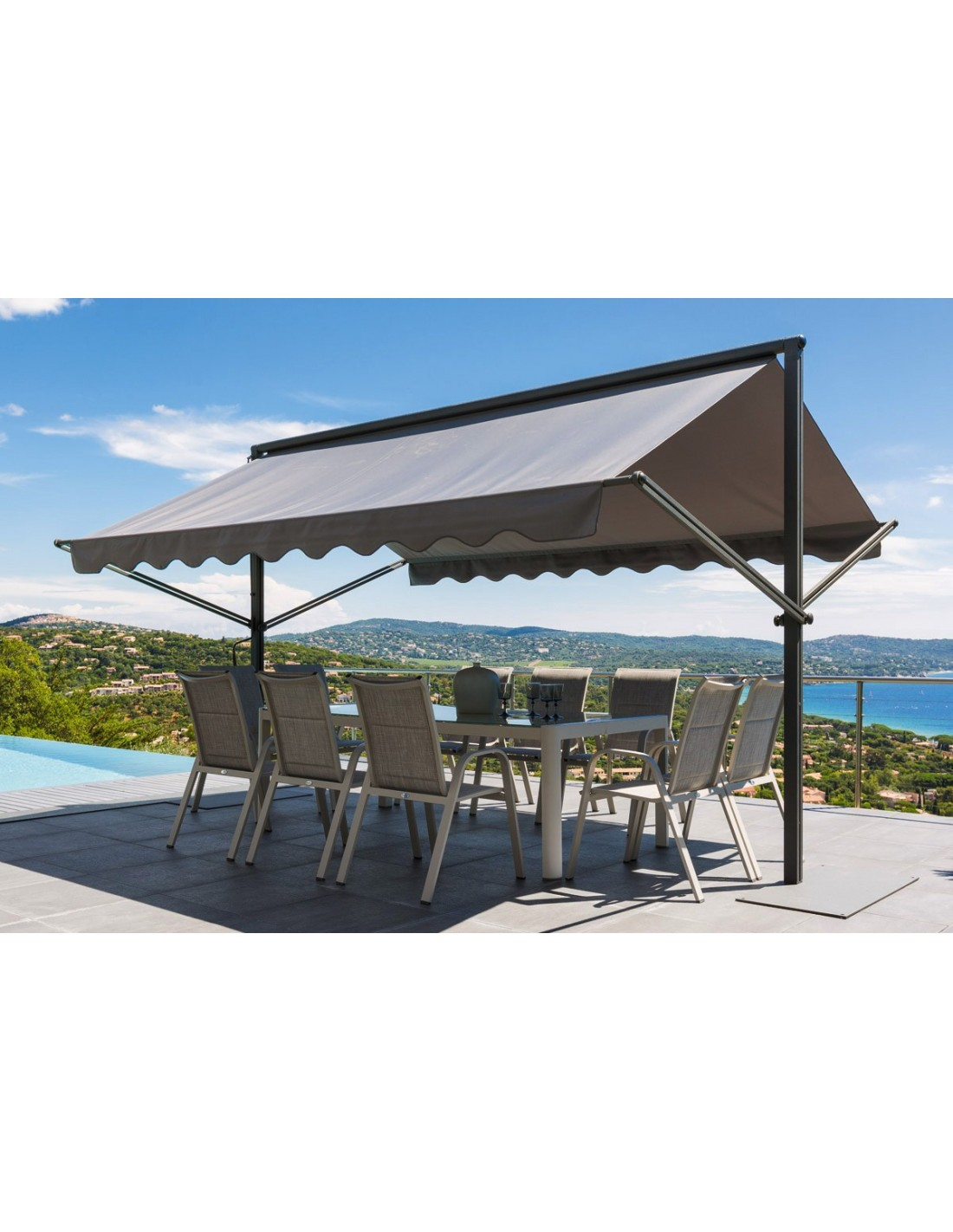 parasol bricoman mario with parasol bricoman parasol inclinable comparez les prix de leroy. Black Bedroom Furniture Sets. Home Design Ideas