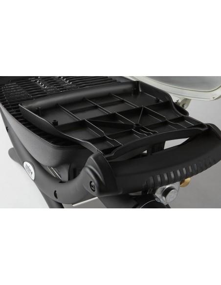 Barbecue à gaz Weber Q 1200 Noir avec tablettes - Serres et abris
