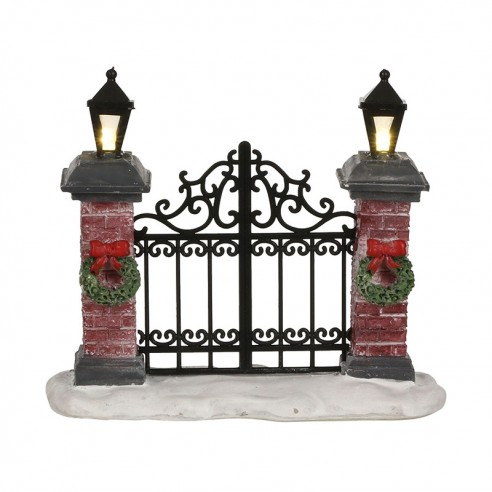 """Portail avec pylônes """"Lighted fence""""- Luville"""