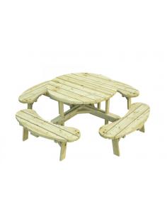 Table pique-niques Oscar 231x231 cm bois traité autoclave
