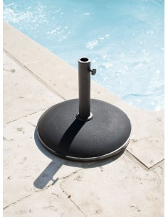 Pied de parasol Béton 25KG - Noir taupe ou gris - Hespéride